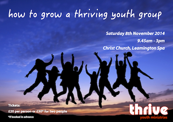How to grow a thriving youth group training event