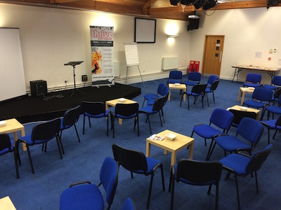 venue ready for training