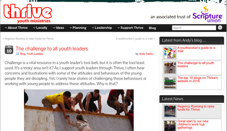 Thrive creates support online for youth leaders