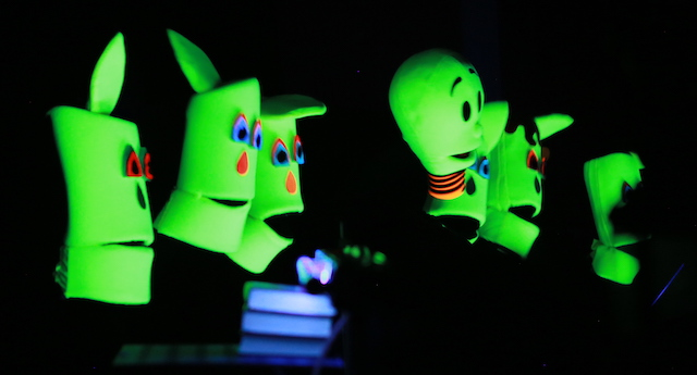 Glow in the dark puppets